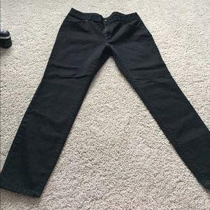 High rise black pants size 18
